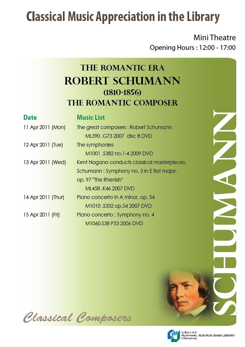 Great Composers of the Eras: Romantic Era — R  Schumann - Run Run