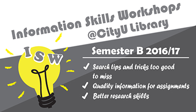 Information Skills Workshops @ CityU Library