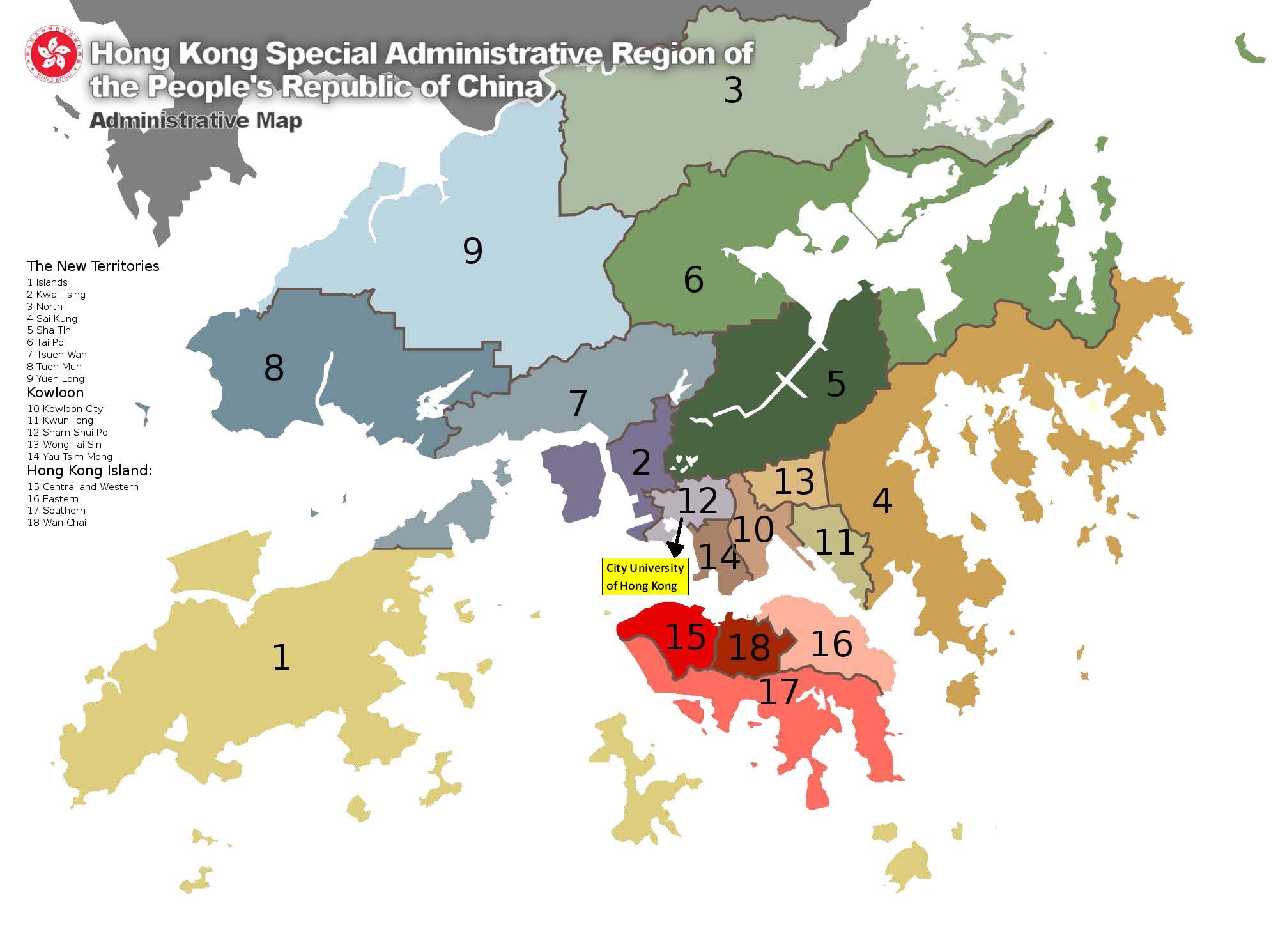 香港十八区地图【相关词_ 香港十八区】