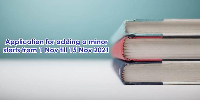 Adding Minor