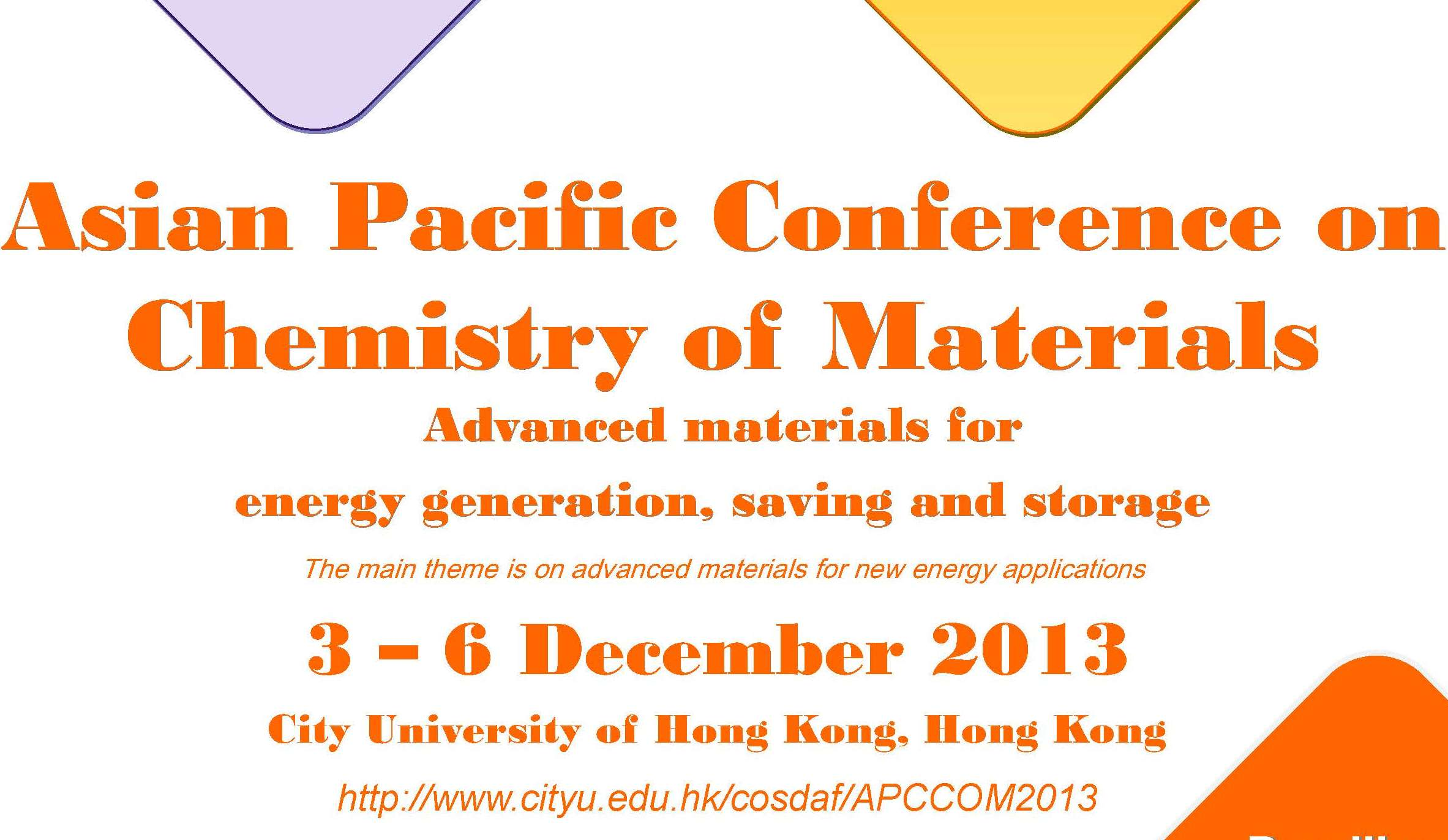 Asian Pacific Conference on Chemistry of Materials \