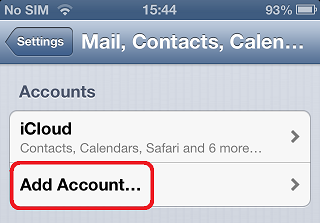 how to add o365 email account from iphone