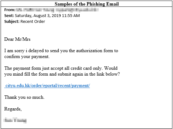 Phishing Email Example 141