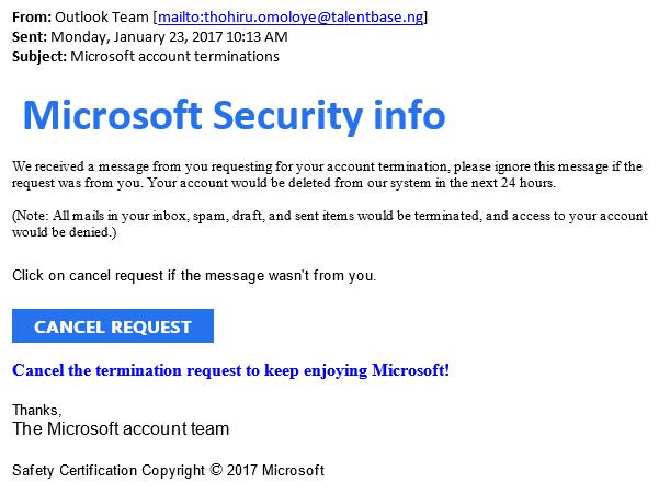 Phishing Email Example 124