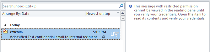 how to send confidential email in outlook 2010
