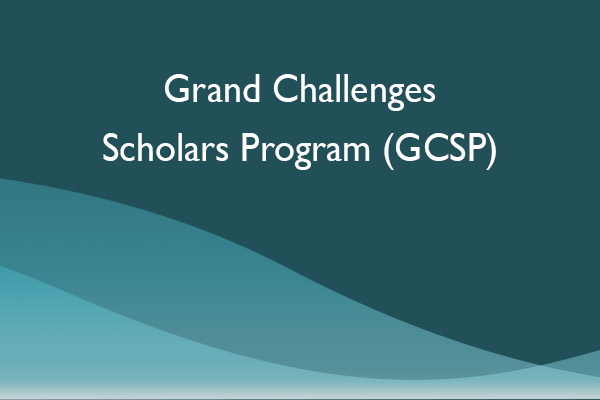Grand Challenges Scholars Program (GCSP)