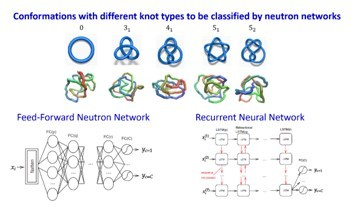 Identifying knot types of polymer conformations by machine learning