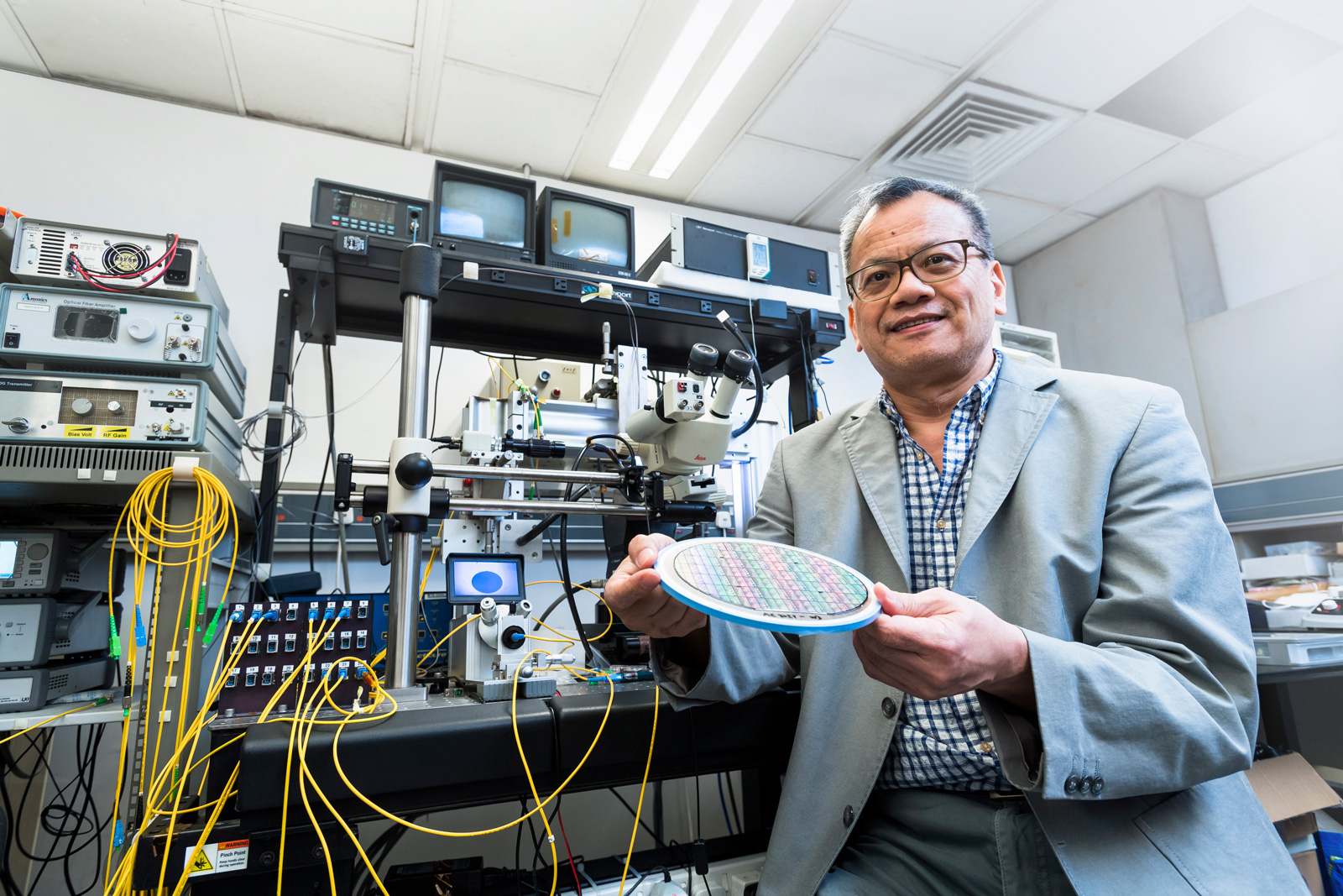 Dr Chu Sai-tak works on the design and fabrication of the chips which contribute to the fastest internet speed in the world.