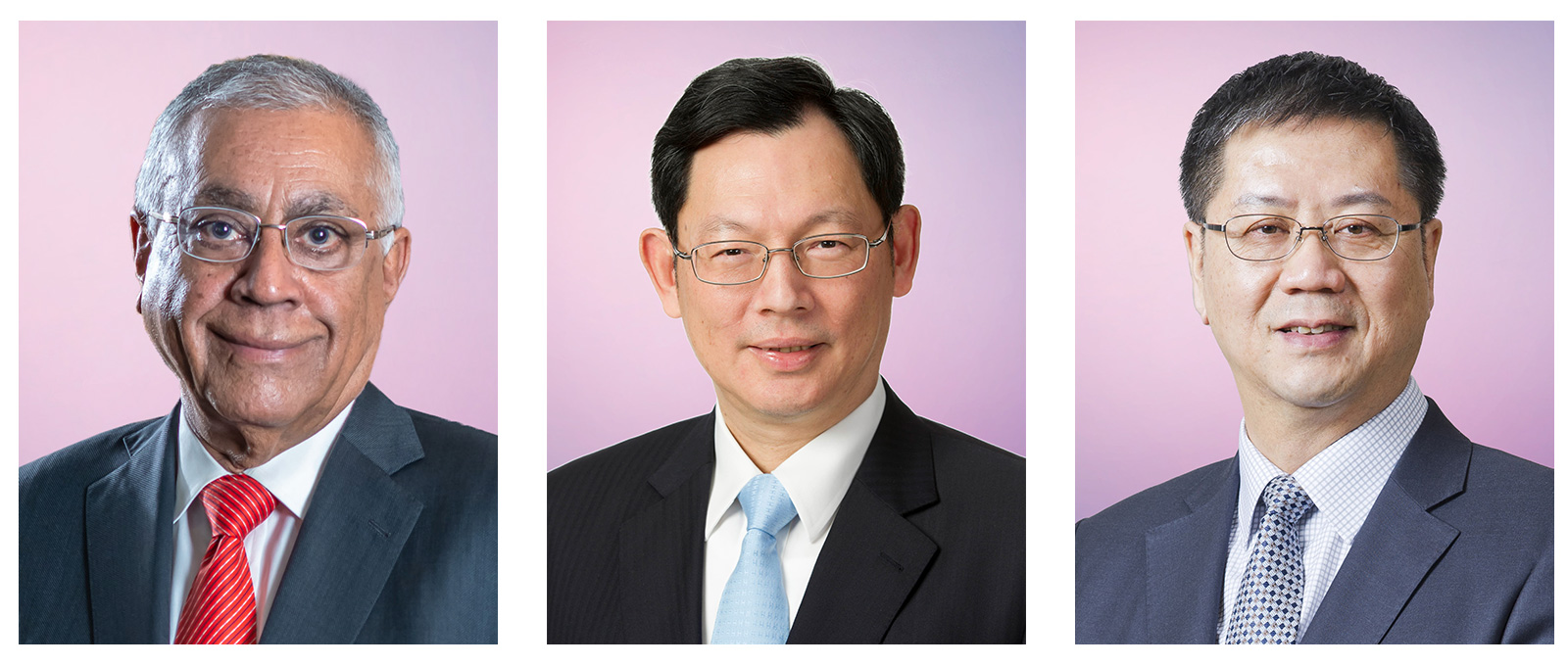 (From left) Mr Harry S Banga, Mr Norman Chan Tak-lam, and Mr Wong Chun-hong.