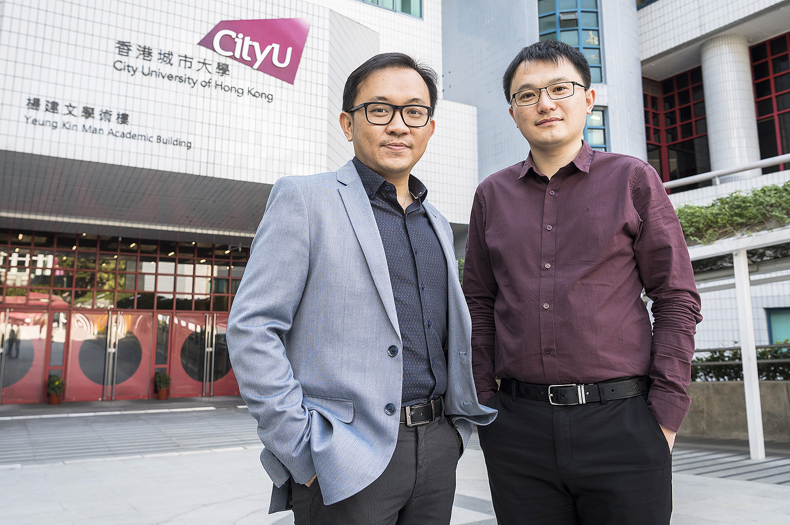(From left) Dr Ng Yun-hau and Dr Shang Jin have developed new technologies for generating sustainable energy and mitigating air pollution.