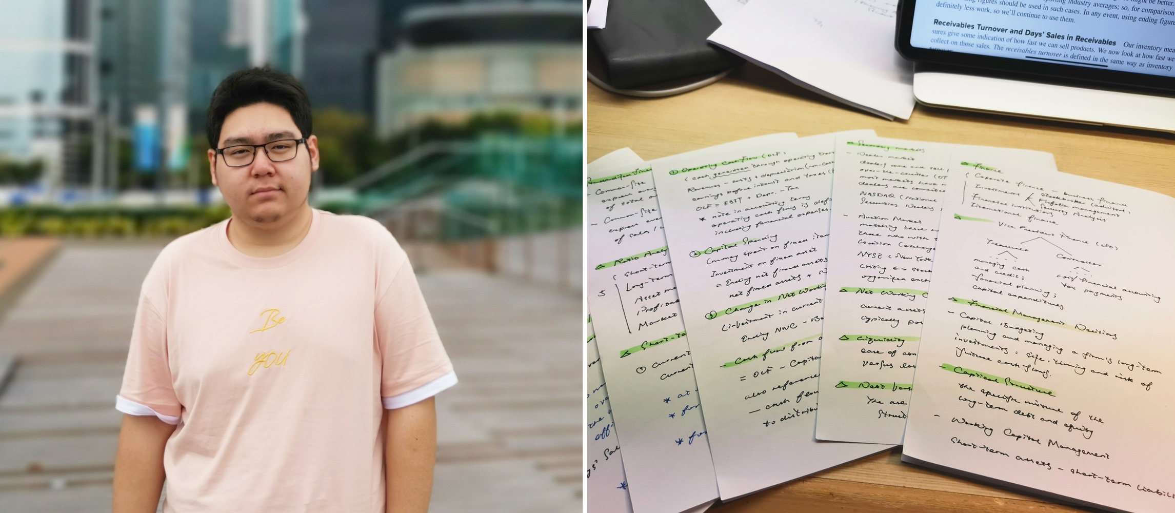Wang Zifan is studying hard during the epidemic as a 'thank you' to his professors for their dedication.
