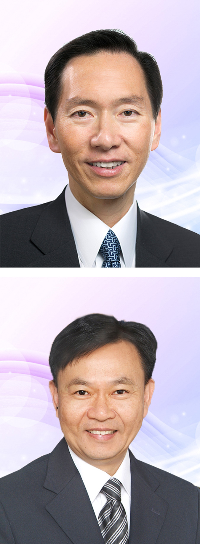 Dr the Honourable Bernard Charnwut Chan (top) and Dr Leung Pak-yin