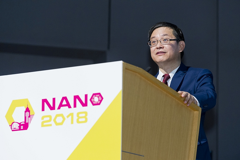 Professor Lu Jian, Vice President (Research and Technology) and Chairman of the conference organizing committee, said in his opening remarks that CityU was very honourable to be the host of NANO 2018.