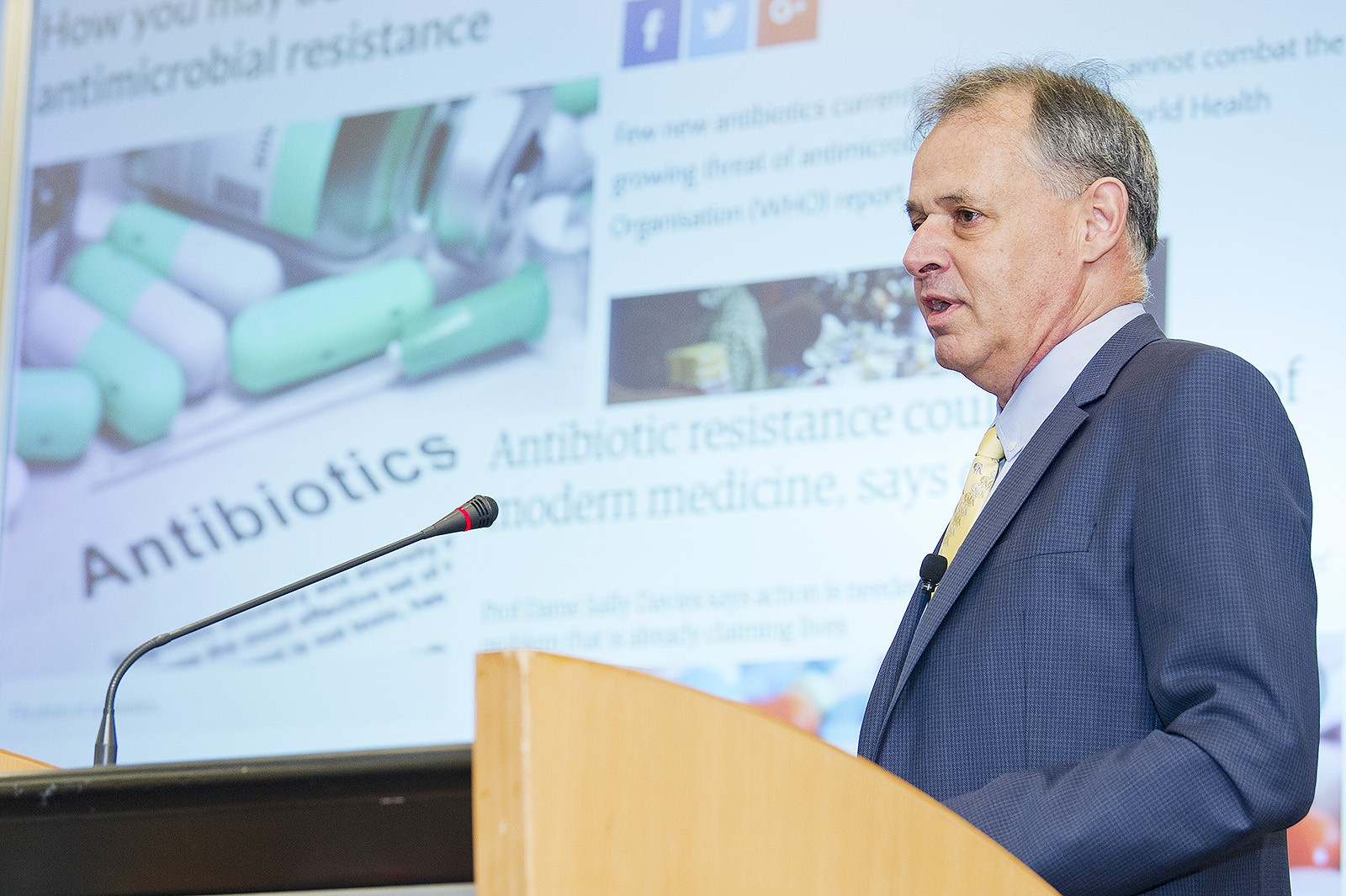 Antimicrobial resistance, or AMR, is a major threat to global health and the world economy, according to Professor Reichel at the President's Lecture Series: Excellence in Academia.
