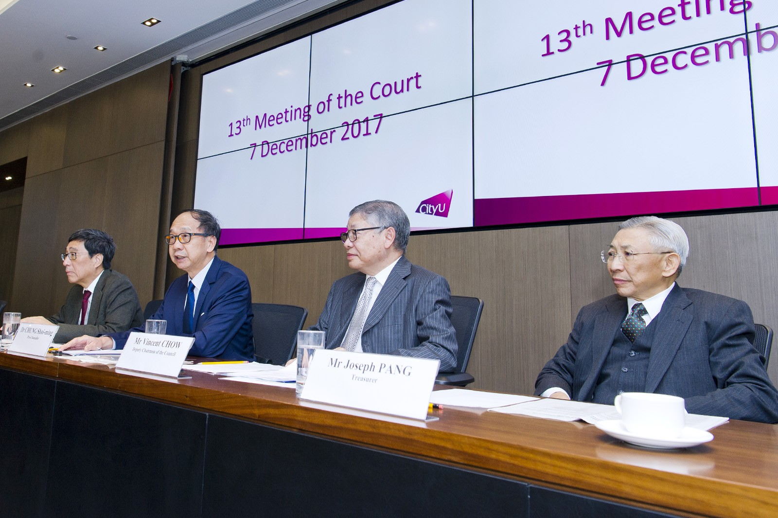 Professor Kuo addresses the 13th meeting of the Court.