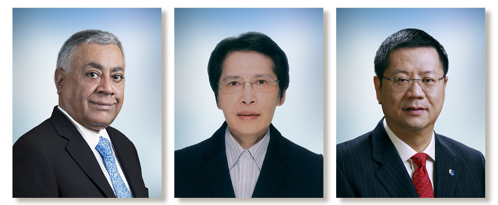 (From left) Mr Harry S. Banga, Miss Tong Hing-min, and Mr Wong Chun-hong.