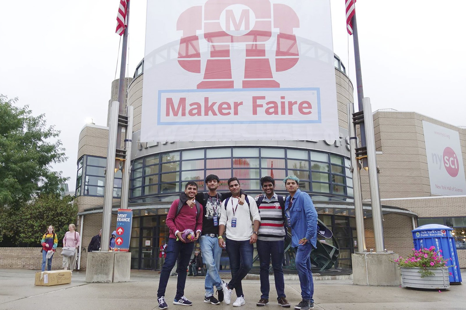 The team took part in the World Maker Faire in New York to showcase their application that aids bowling athletes with visual impairment.