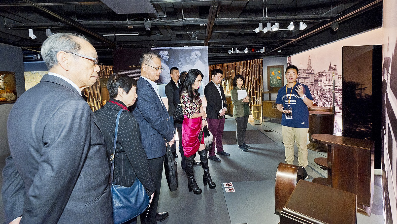 "Guests visited the ""Art Deco. The France-China Connection"" exhibition."