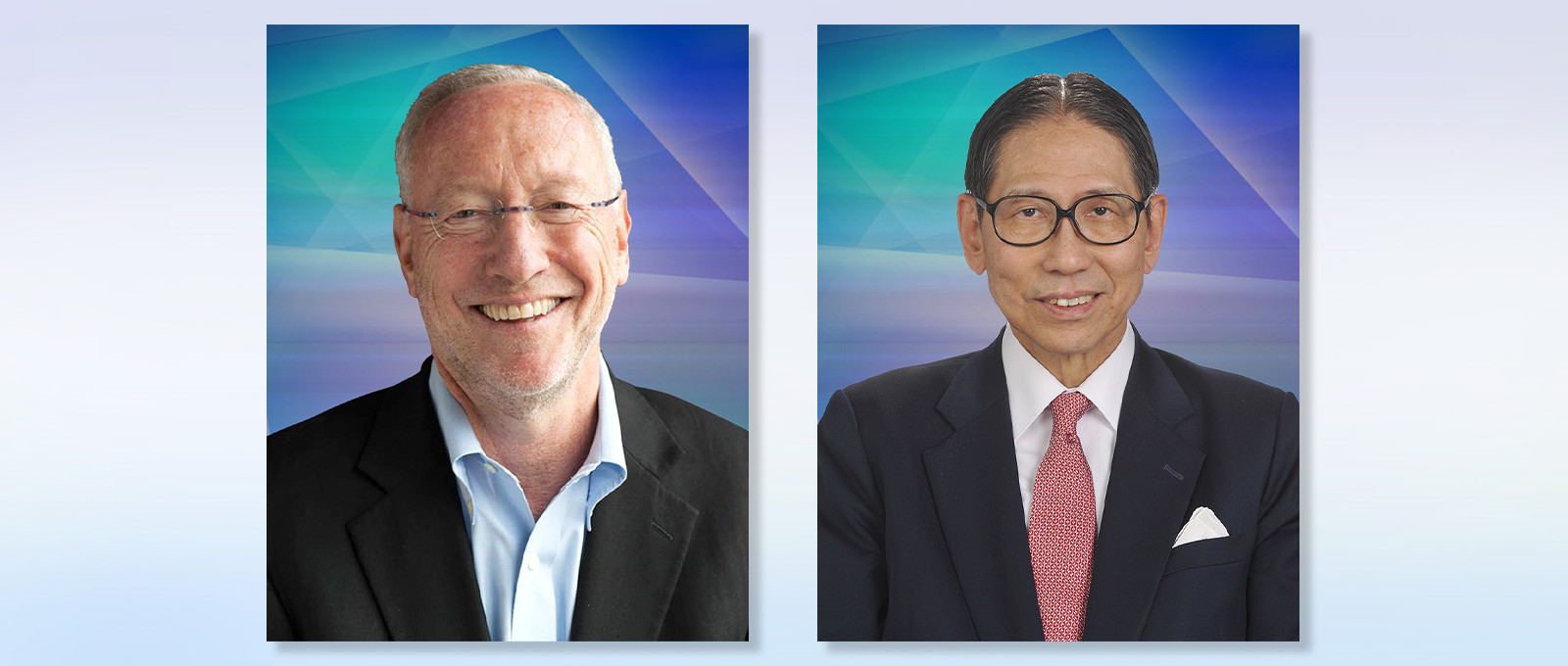 (From left) Professor Michael Kotlikoff and Dr Edward Leong Che-hung.