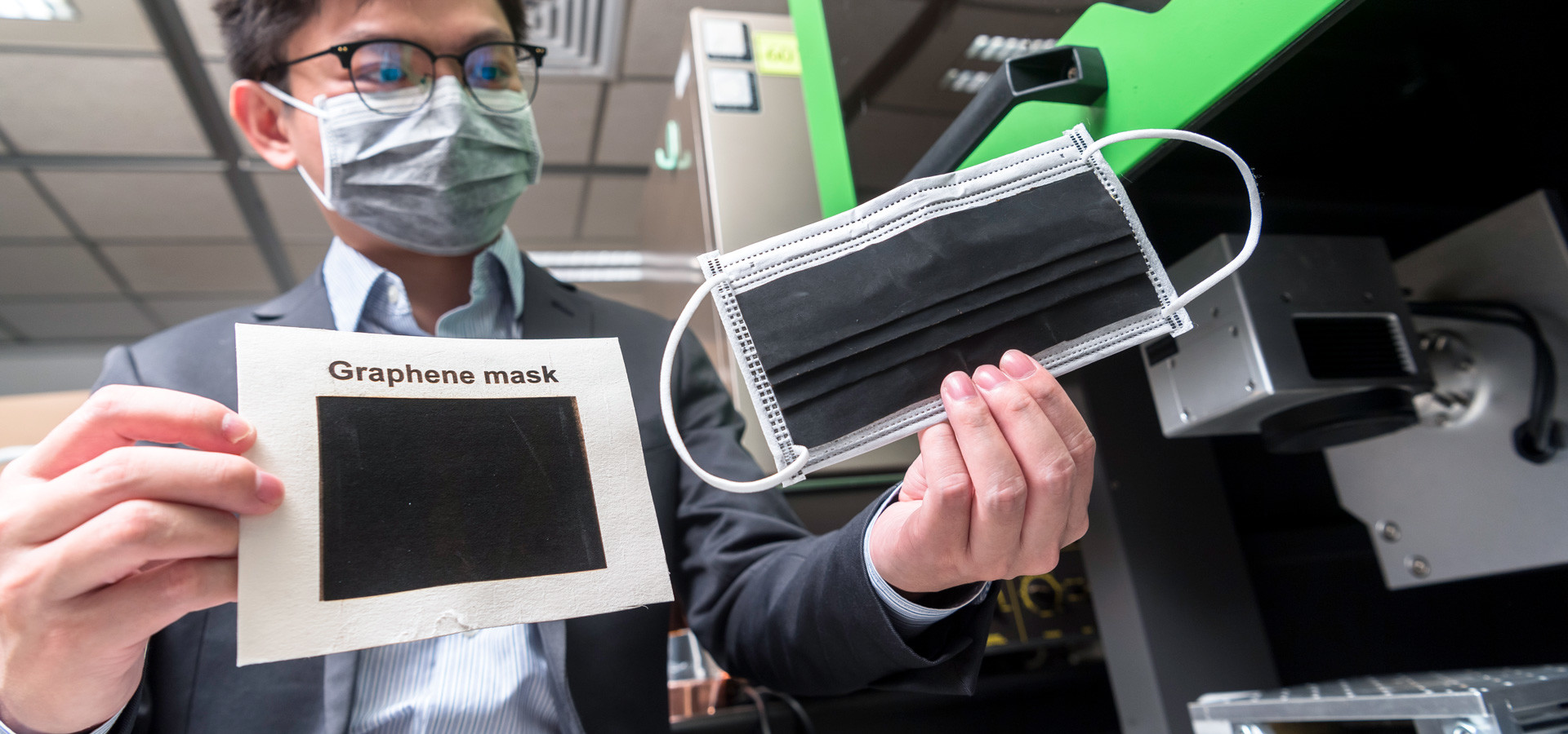 Anti-bacterial graphene masks