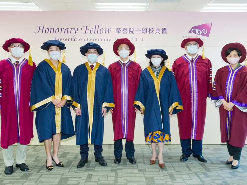 CityU confers Honorary Fellowships on three distinguished persons