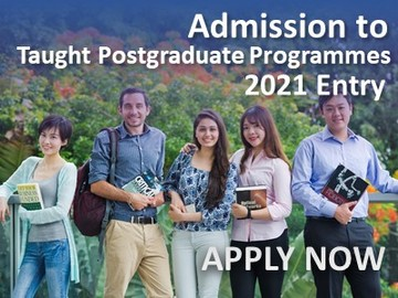 Applications for admission to taught postgraduate programmes for 2021 entry