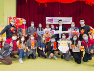 News Student residents at CityU celebrate New Year with President
