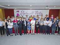 A farewell party was held on 19 June for 44 members of staff who are retiring from CityU this year.