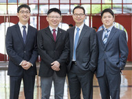 Professor Fung and Professor Kim (2nd and 3rd from left) have been awarded Outstanding Research Awards while Dr Lu (far right) and Dr Wang (far left) have been awarded Outstanding Research Awards for Junior Faculty.